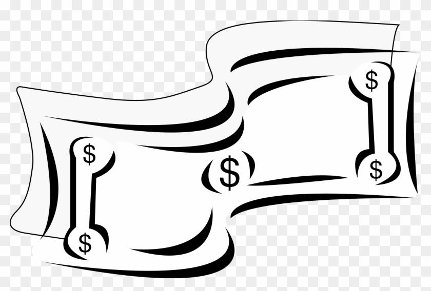 Dollar - Bill - Clip - Art - Black - And - White - Dollar Bill Clip Art #71858