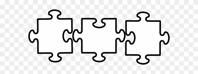 Jigsaw Clipart Black And White - Jigsaws Black And White #71862