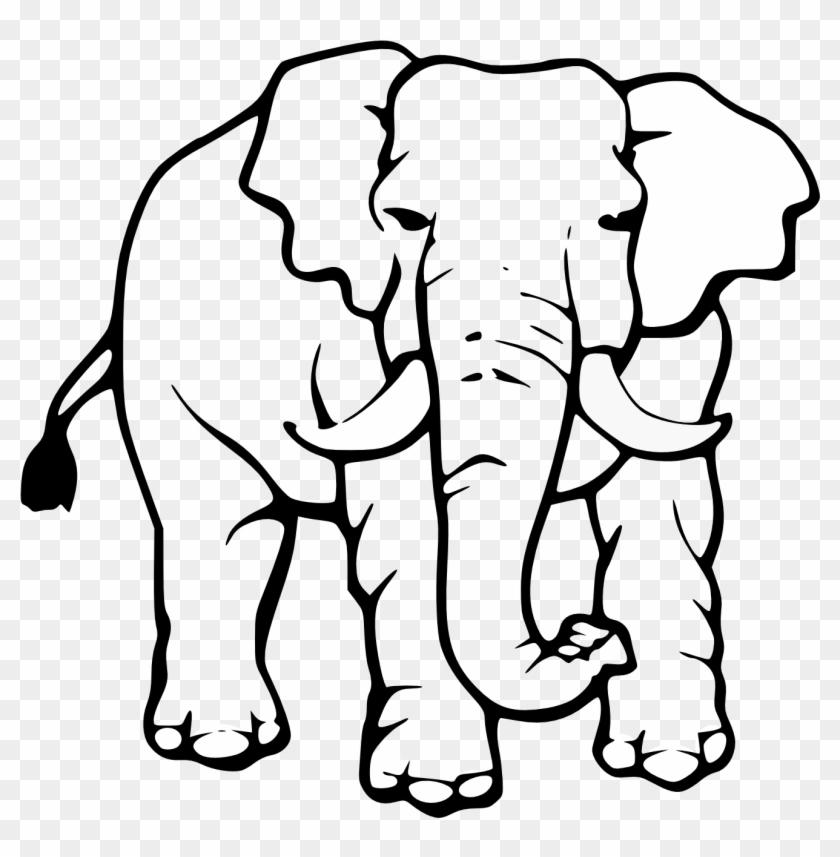 Elephant Black And White Cute Elephant Clipart Black - Elephant Drawing Black And White #71958