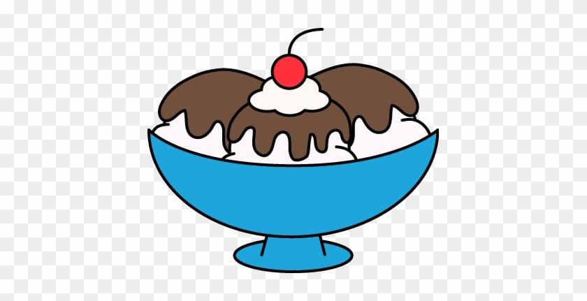 Hot Fudge Sundae Clip Art - Ice Cream Sundae Clipart #71982