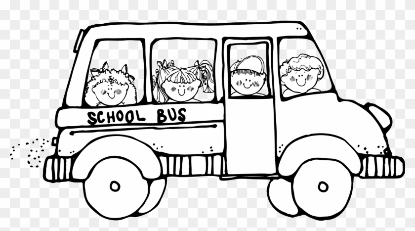 Field Trip Clipart - School Bus Clipart Black And White #72010