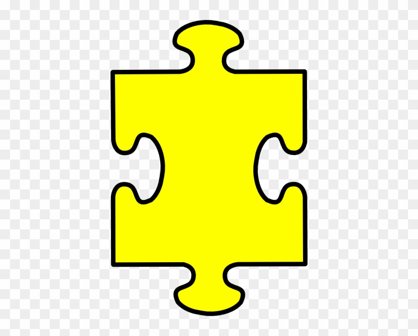 Puzzle Piece Yellow Clip Art At Clkercom Vector - Puzzle Piece No Background #72026