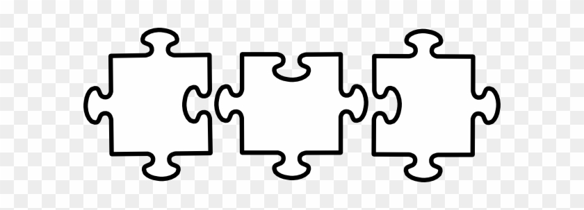 Jigsaw Clipart Black And White - Puzzle Pieces Clip Art #72029