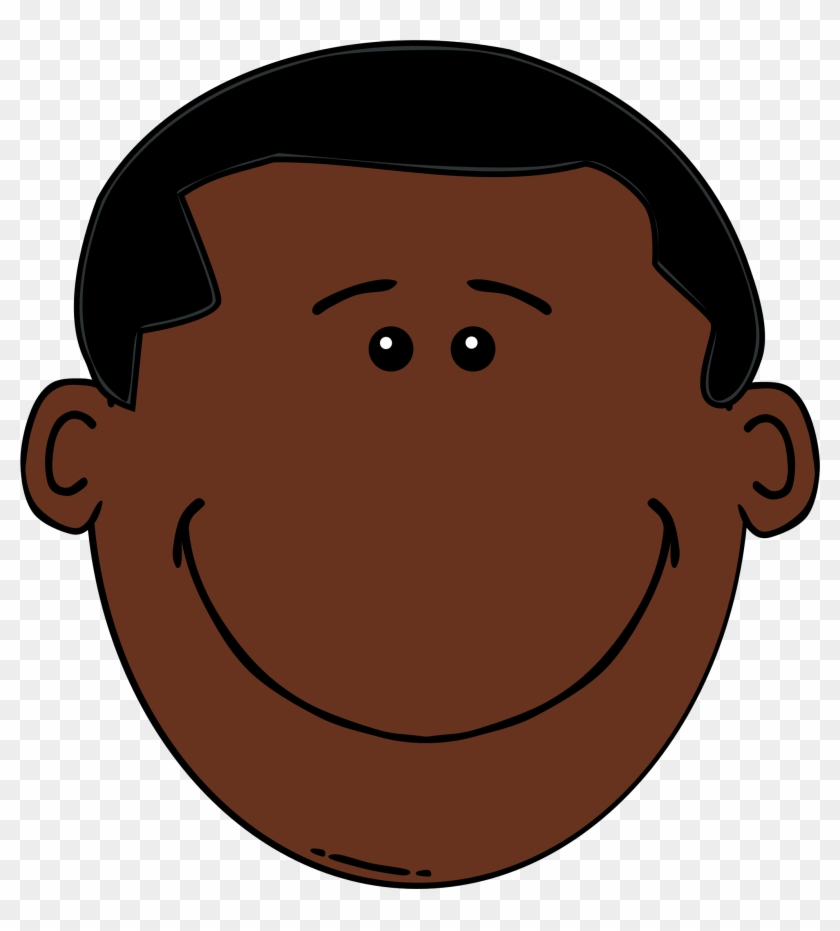 Codes For Insertion - Black Man Cartoon Face #72216
