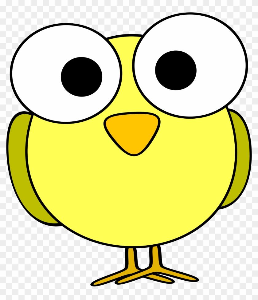 Bird Face Clip Art - Cartoon With Big Eyes #72379