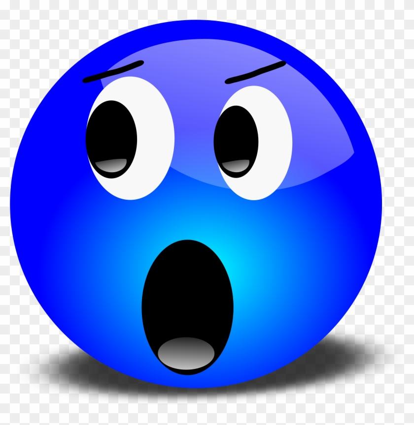 Face Clipart - Blue Smiley Face #72431