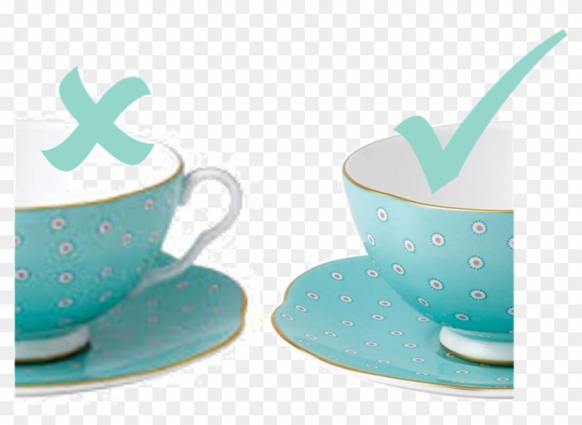 Poster Clipart Presentation Overview - Polka Dot Tea Story Teacup And Saucer #72639