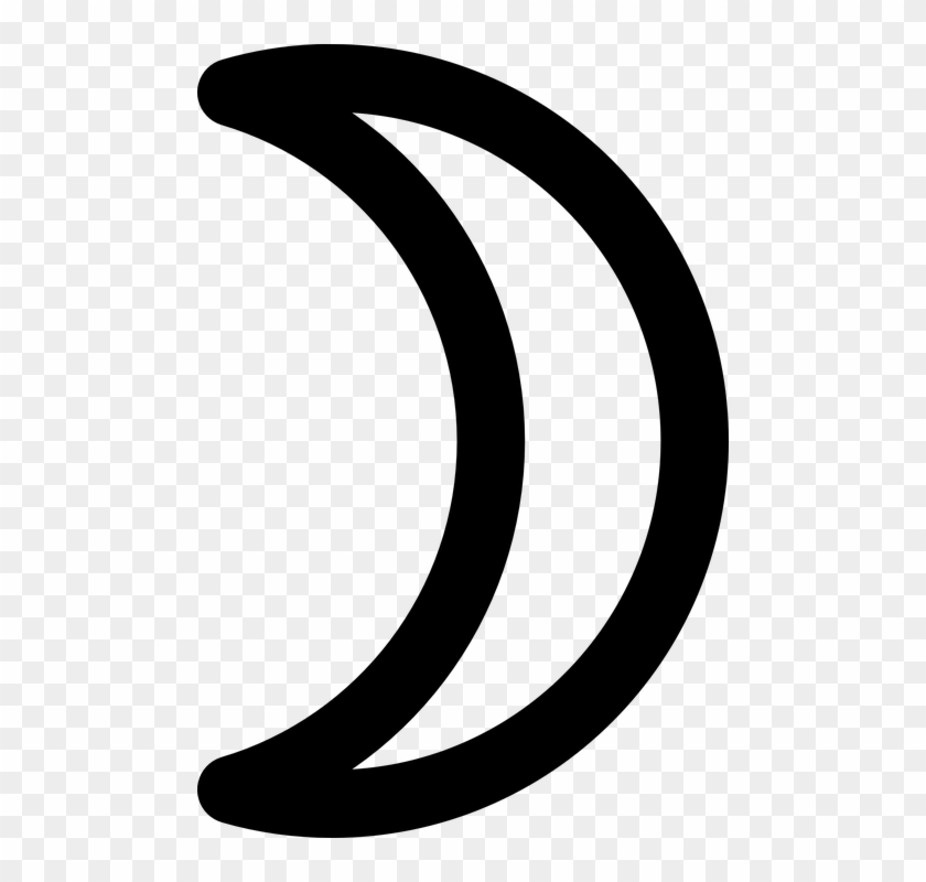 Free Vector Moon Symbol Crescent Clip Art Moon Black And