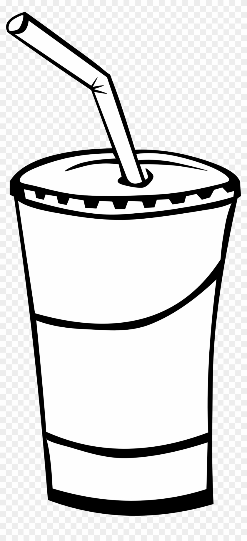 Soft Drink Clip Art Black And White - Draw A Soda Cup #73076