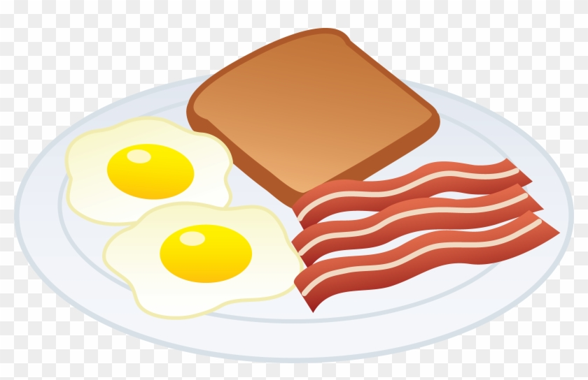 Download Breakfast Clip Art Free Clipart Of Breakfast - Bacon And Eggs Drawing #73119