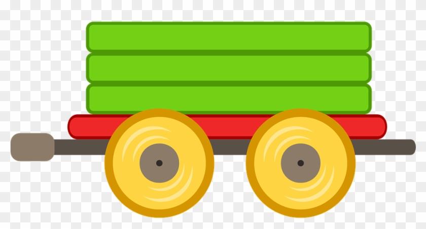 Train Car Toy Green Transport Railway Child - Train Car Clipart #73170