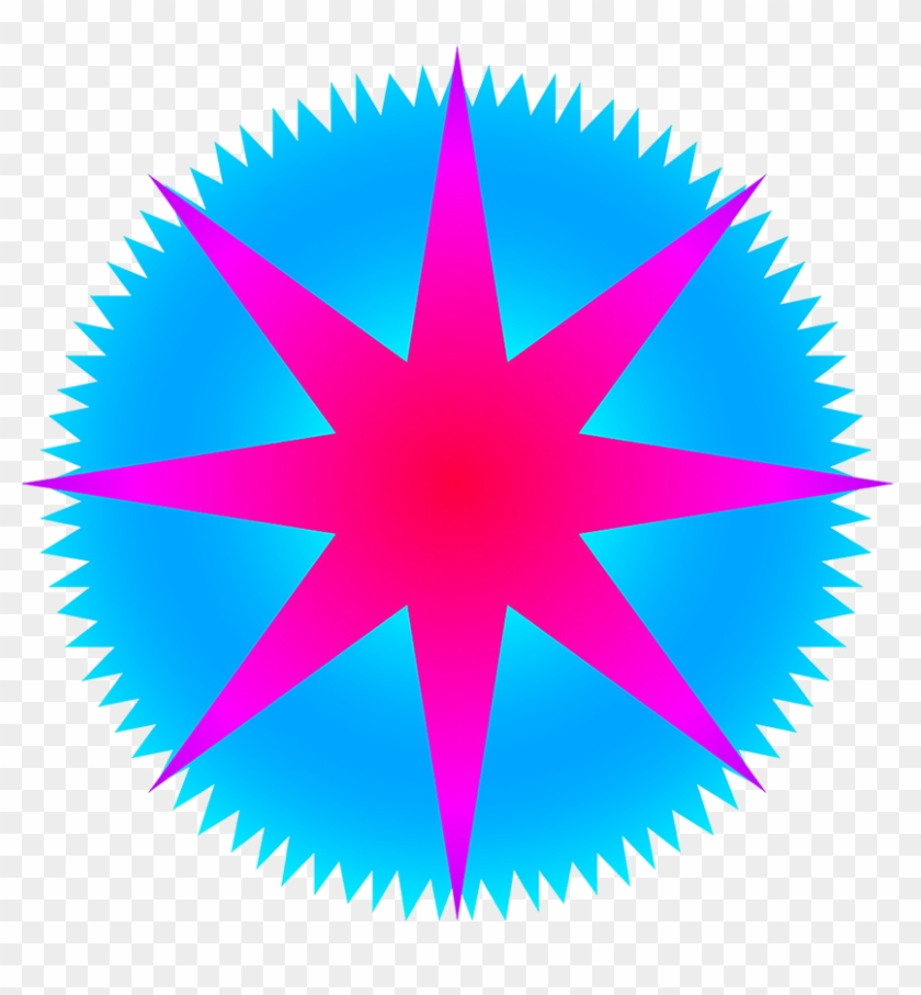 Star Clipart With Rays - Bear Abstract #73324