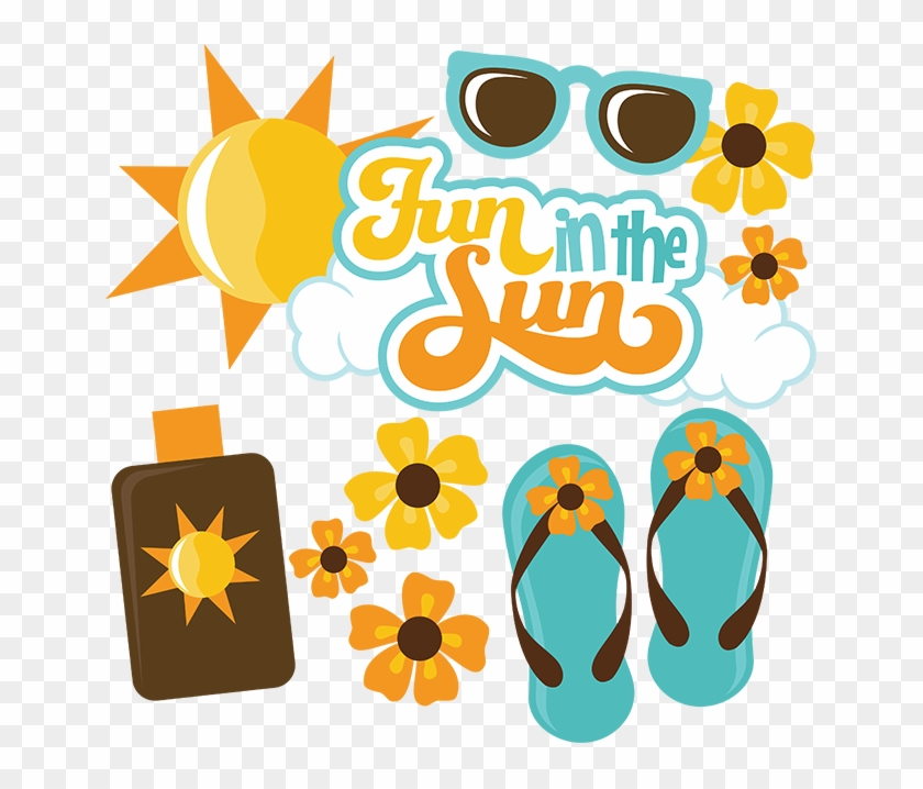 Fun In The Sun Svg Scrapbook Files Summer Svg Files - Fun In The Sun #73552