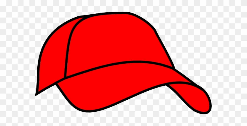 Red Baseball Cap Clipart - Red Baseball Hat Clipart #73681