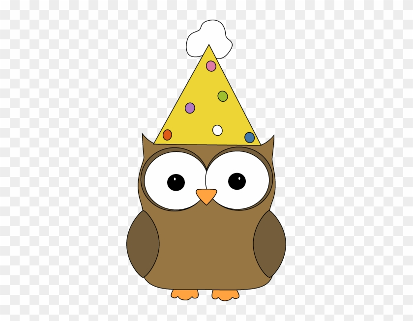 Owl Wearing Party Hat - Owl With A Birthday Hat #73688