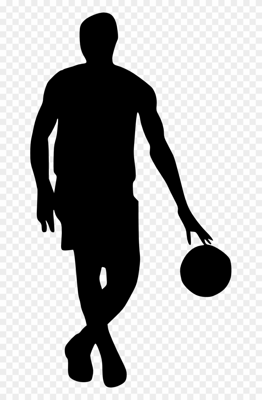 Silhouette Basketball - Basketball Player Silhouette Png #73950
