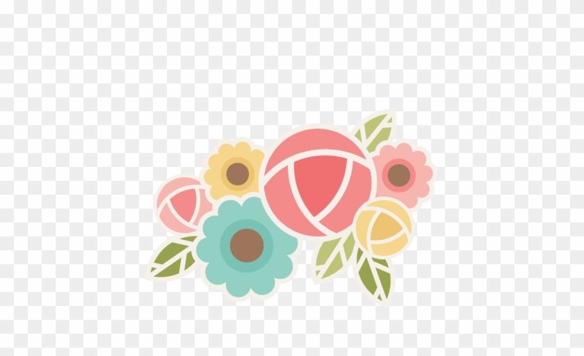 Flower Group Svg Scrapbook Cut File Cute Clipart Files - Free Scrapbook Flower Sticker Cuts #73967