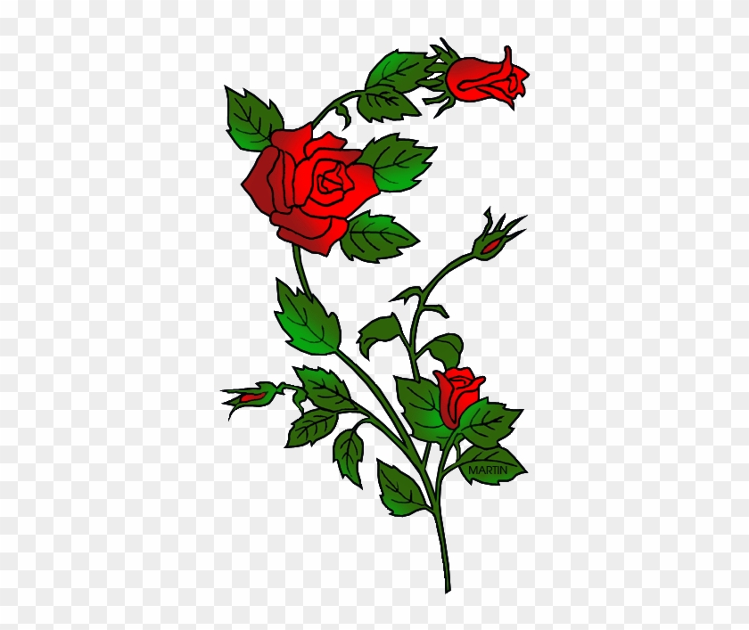 State Flower Of Oklahoma - Wedding Roses Embroidery Design #74325