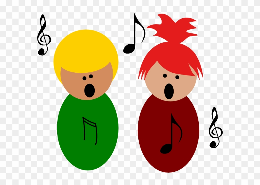 Children Singing3 Clip Art - Children Singing Clipart #74366