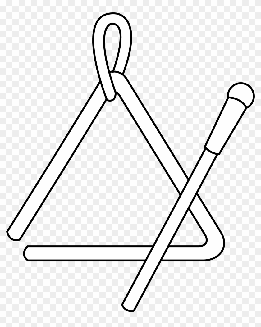 Instrument Clipart Black And White Triangle Instrument Coloring