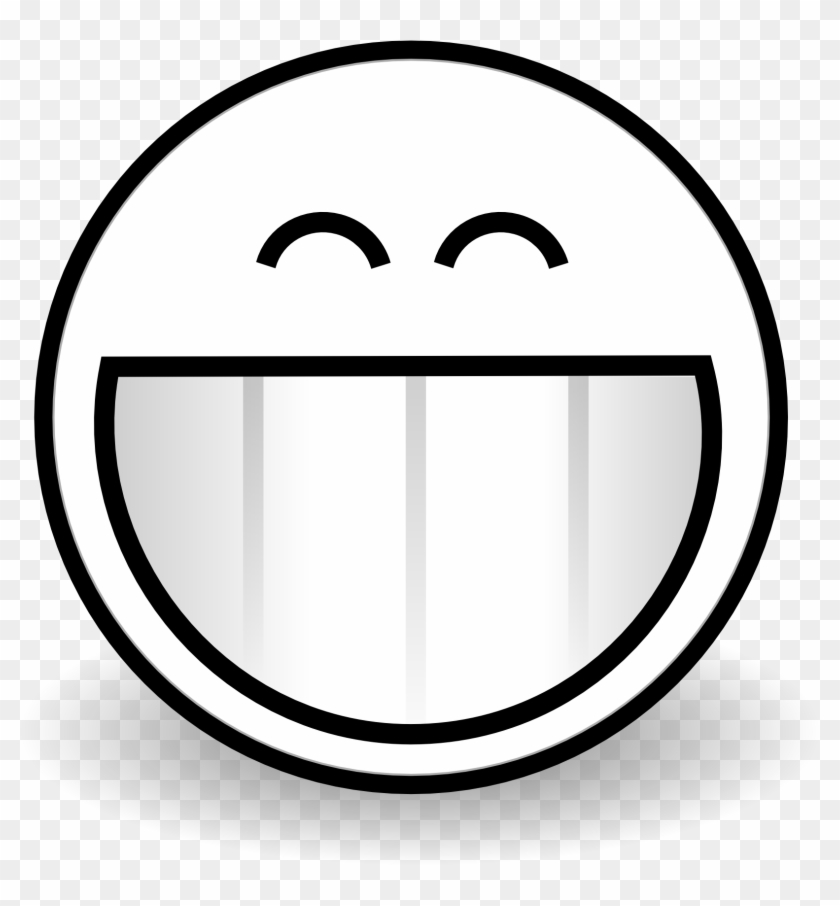 Smiley Face Black And White Clipart Free Happy Faces - Grin Coloring Page -  Free Transparent PNG Clipart Images Download
