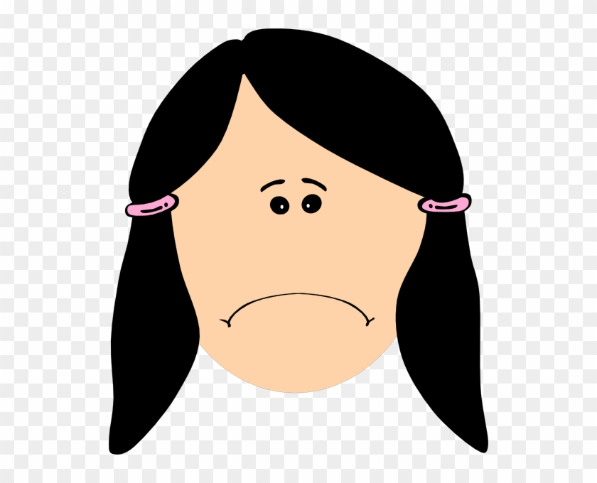 Triste Sad Clip Art At Clker Com Vector Clip Art Online - Happy Face Girl Cartoon #74591