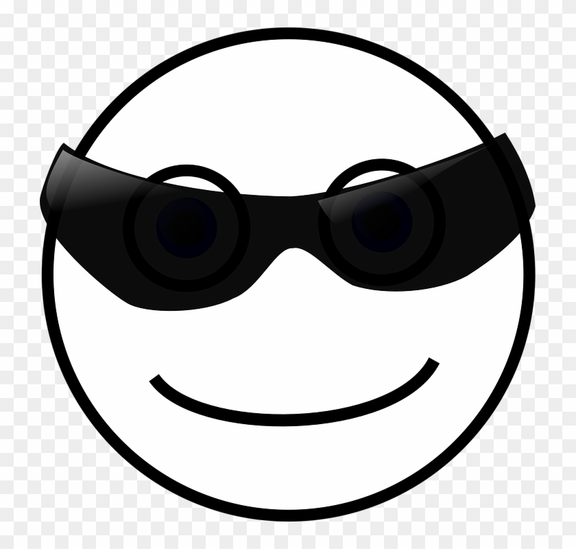 smiley face sun sunglasses cool smiley black and white 74619