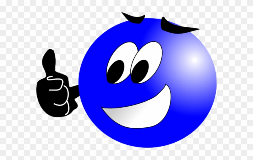 smiley face with mustache and thumbs up blue smiley face png 74645