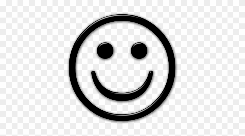 Smiley Face Black And White Png - Happy Face Icon Transparent #74712