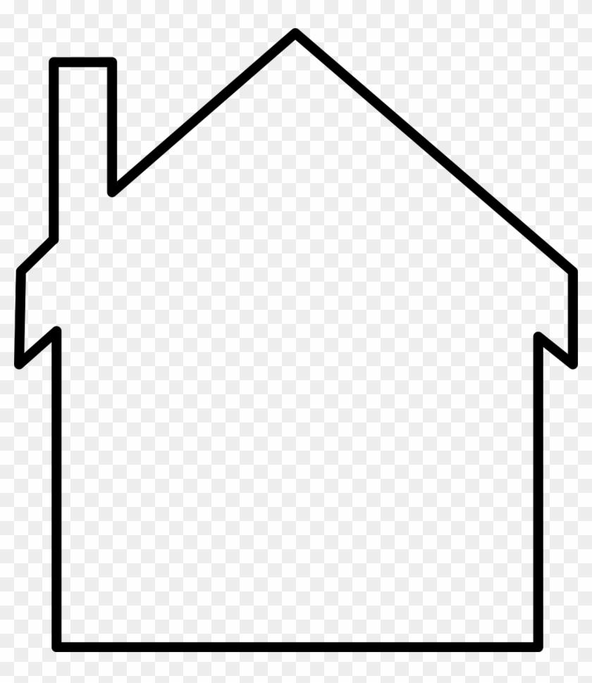 Clip Art Details - House Outline #74801