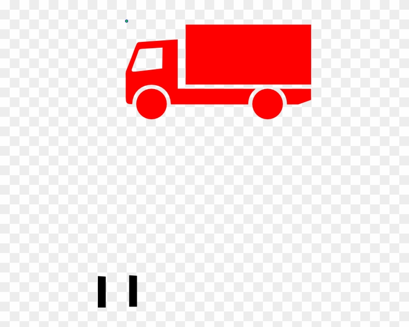 Red Lorry Clip Art At Clker - Clip Art Truck Purple #74808