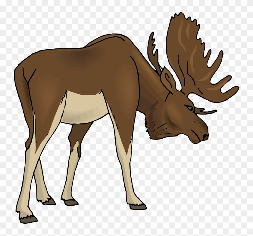 Angry Moose Clipart - Free Clipart Moose #74879