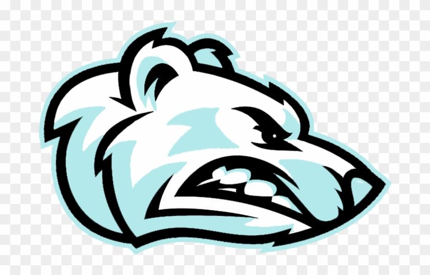 Angry Bear Clipart - Polar Bear Mascot Embroidery Design #74896
