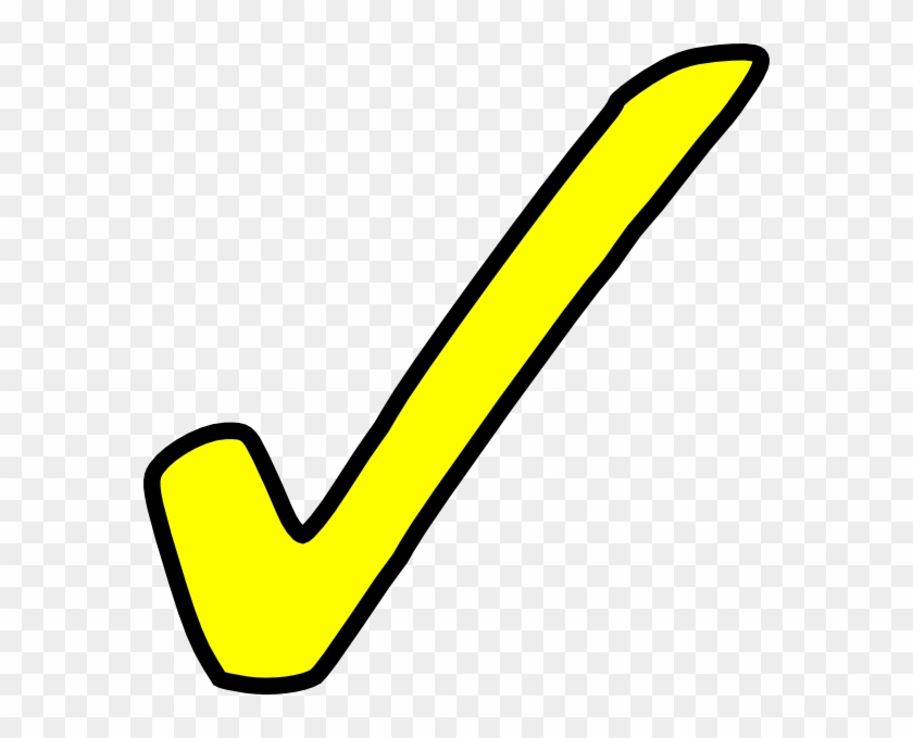 Yellow Check Mark Clip Art #75007