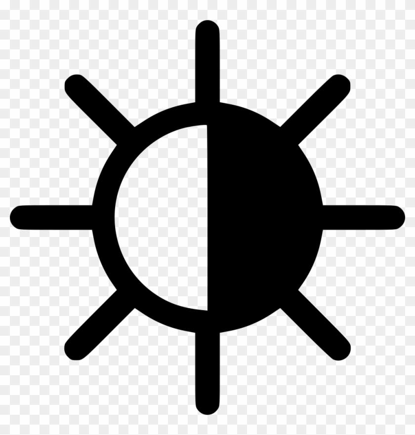 Half Black Sun Comments Free Icon Half Sun Free Transparent Png
