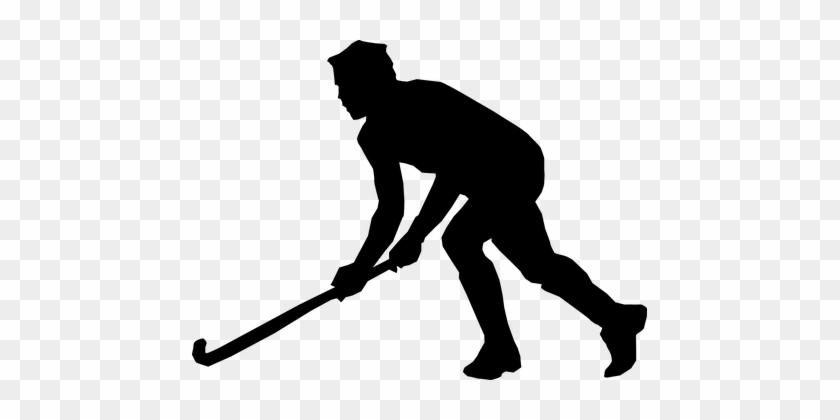 Hockey Hockey Player Winter Sports Sports - Hockey Black And White #75643