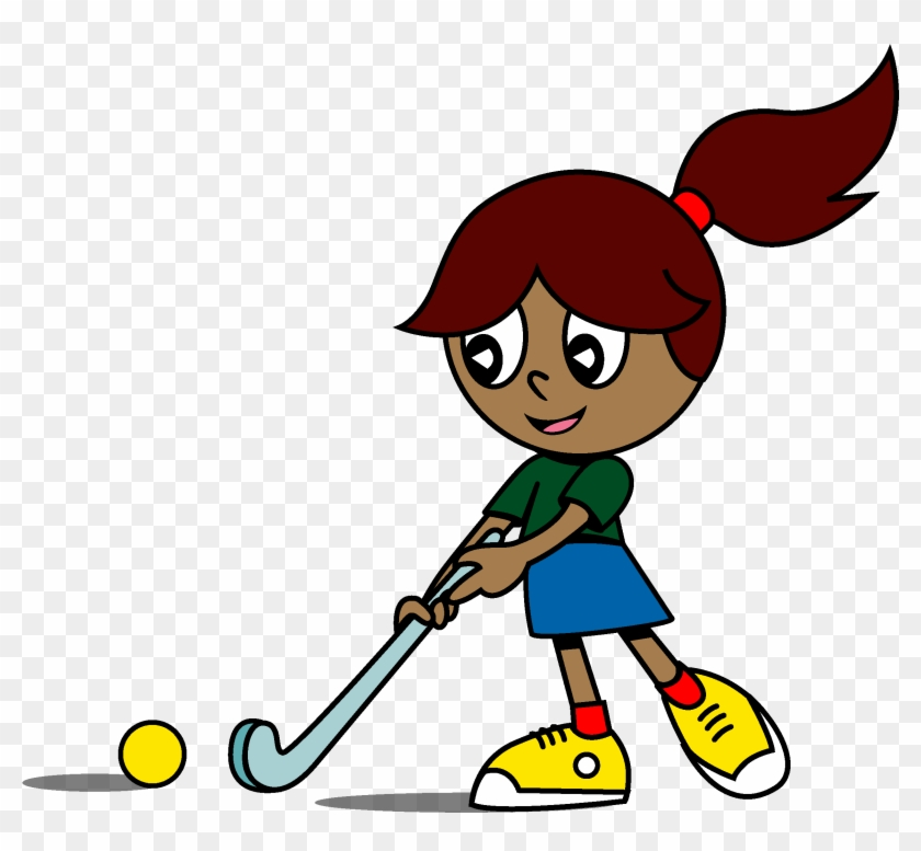 Girl Playing Hockey Cartoon Free Transparent Png Clipart Images Download