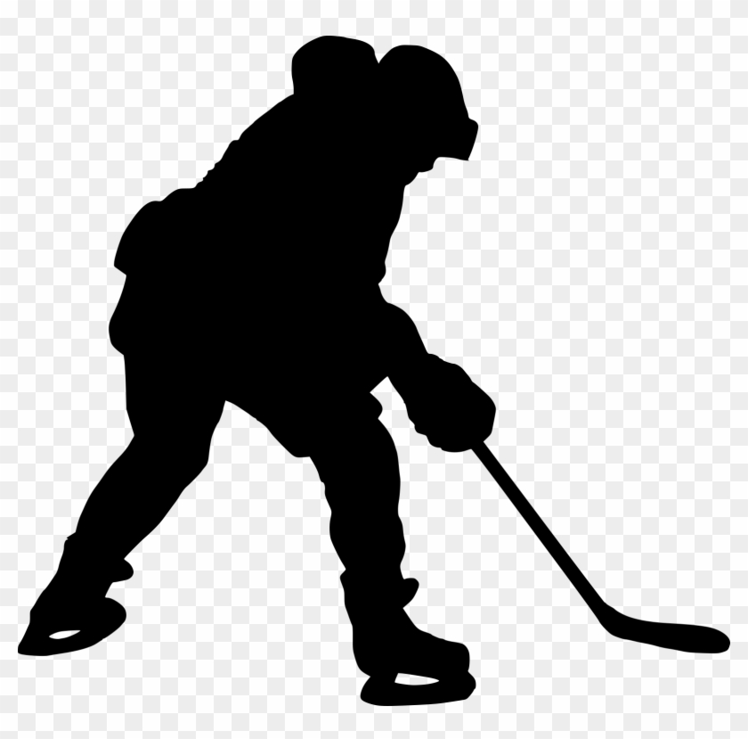 8 Hockey Player Silhouette - Hockey Player Png #75919