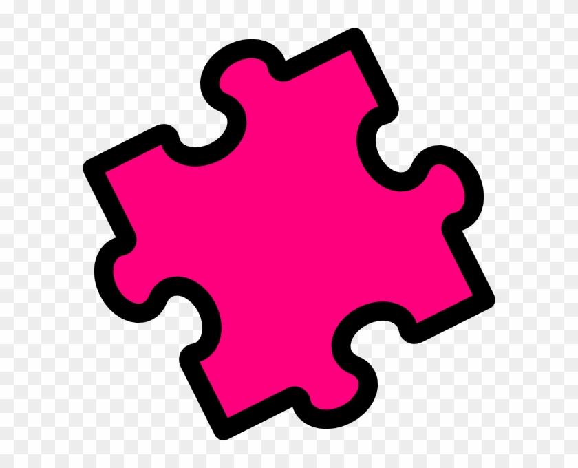 Pink Puzzle Piece Clip Art At Clker Com Vector Clip - Colored Puzzle Piece #75996