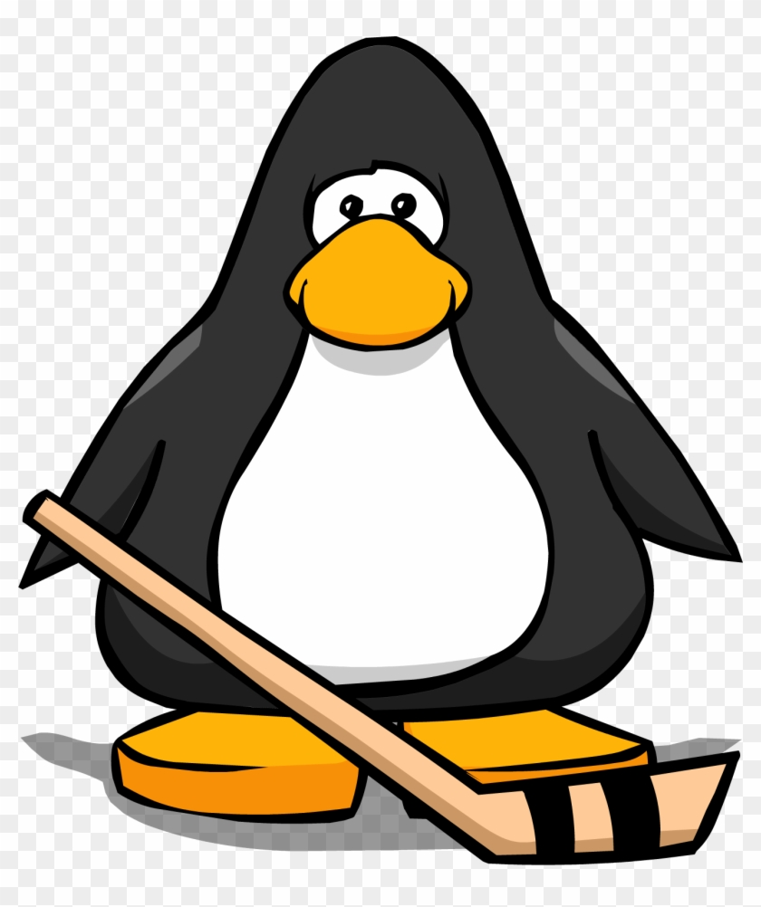 Hockey Stick From A Player Card - Penguin With Hockey Stick #76136