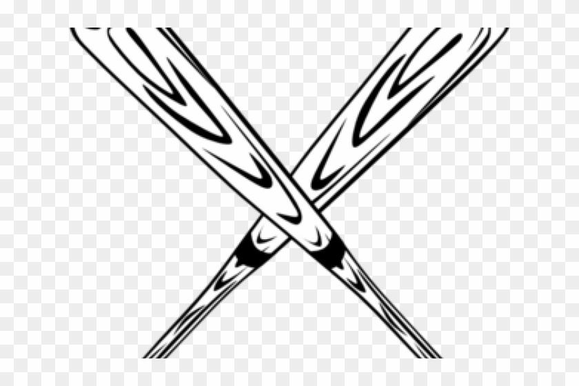 Crossed Bats Clipart - Baseball Bats Svg #76205