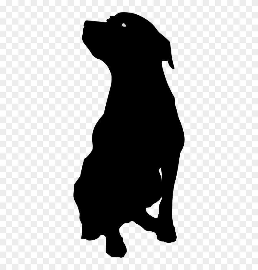 Rottweiler Dog Silhouette Clip Art Outline Of Dog Sitting Free