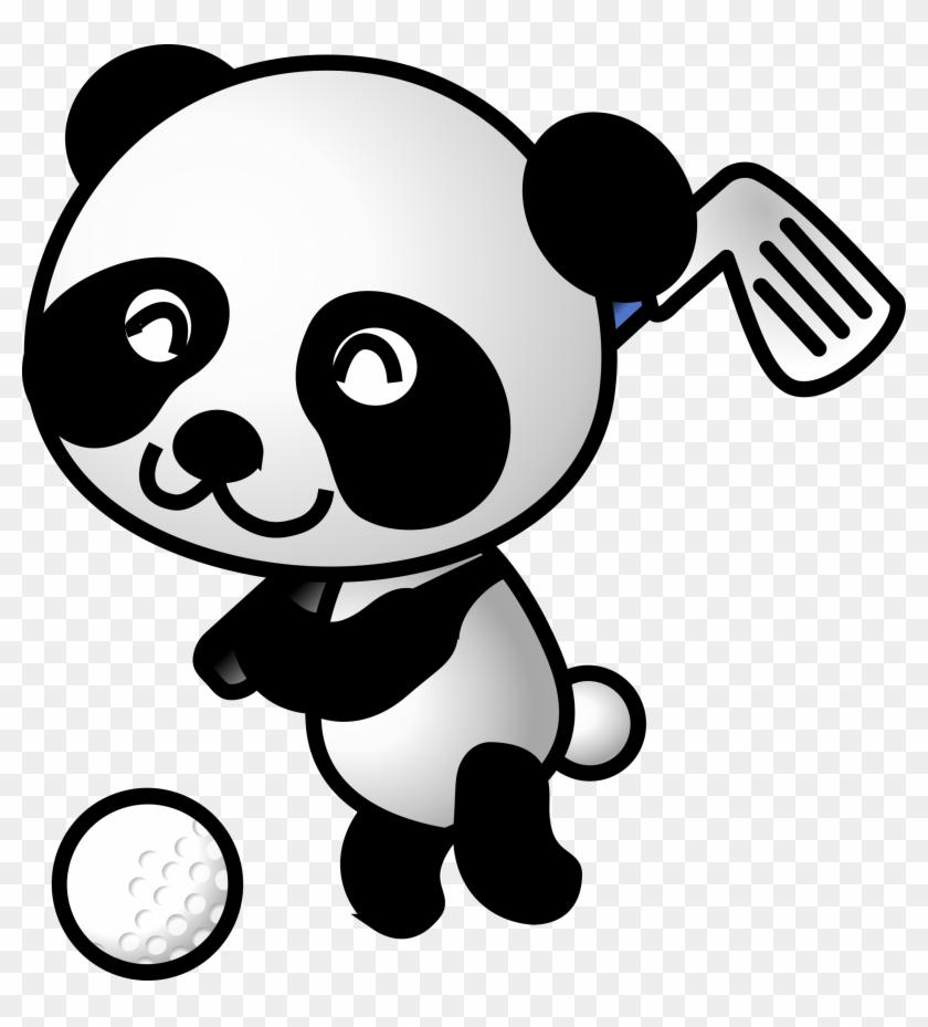 Golf Panda By Panda Playing Golf - Panda Golfing #76318