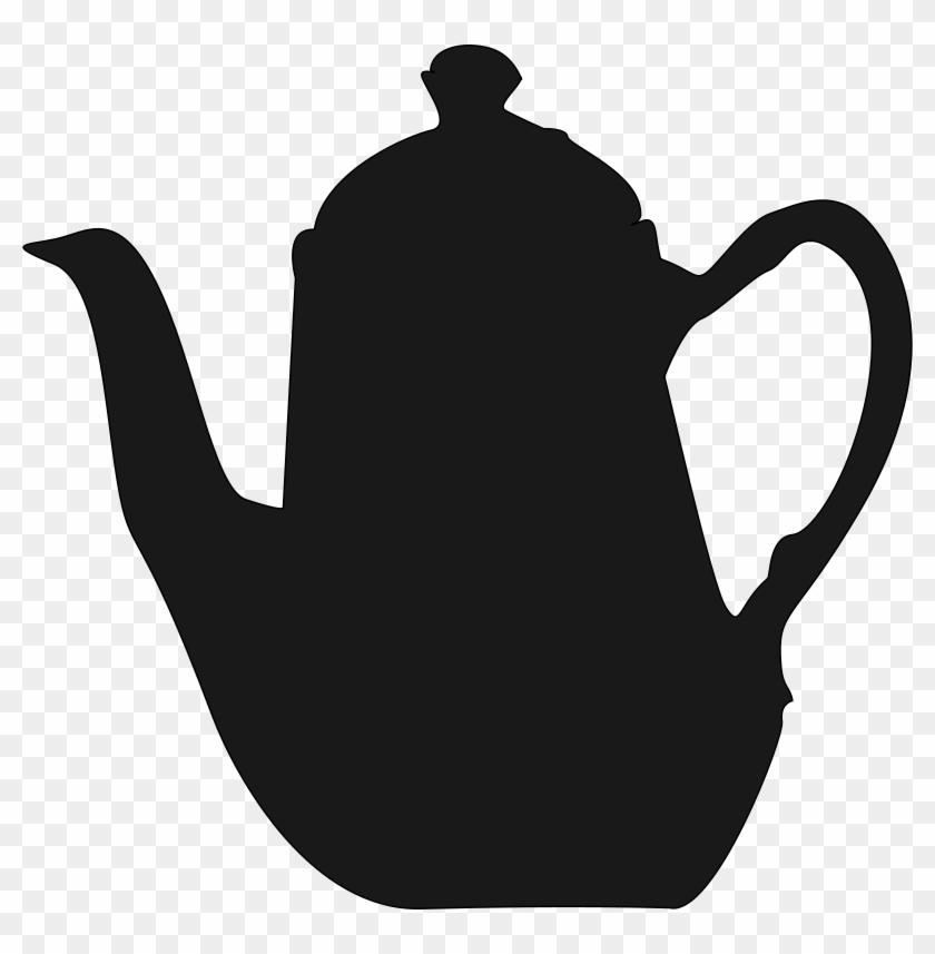 English Porcelain Teapot Clip Art - Bule De Cha Desenho #76371