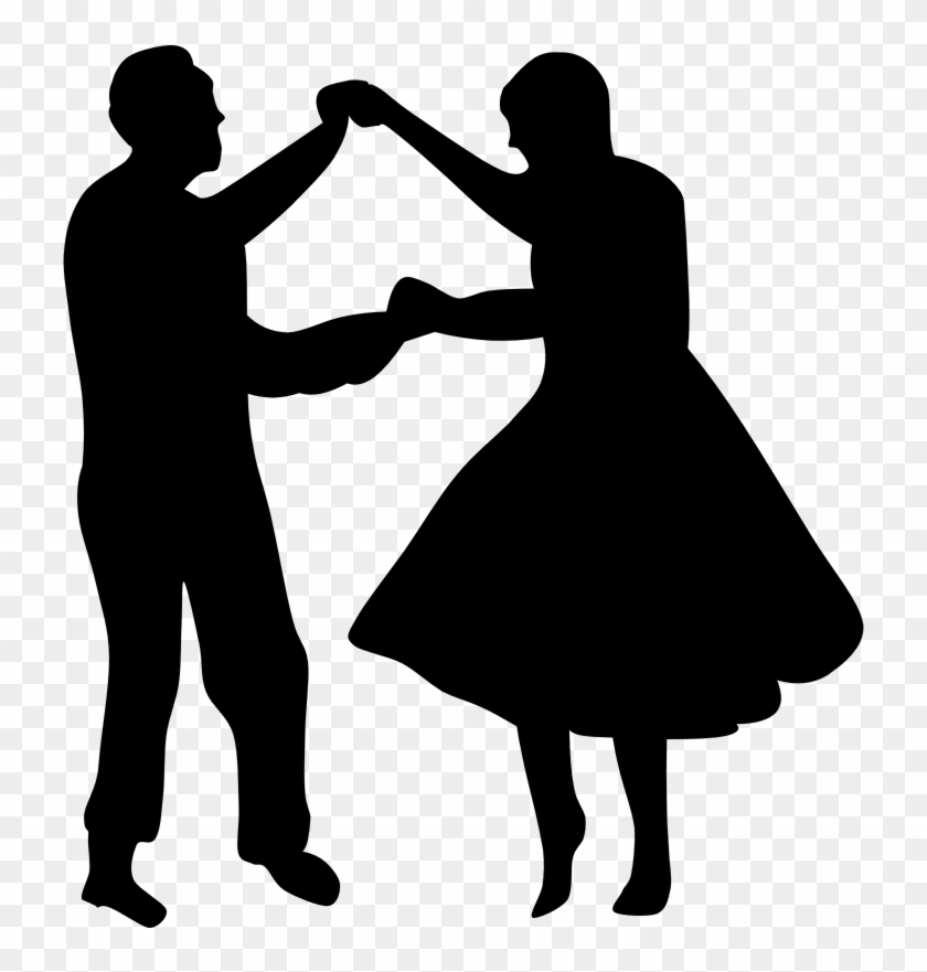 Clipart - Fifties Dancers - Dancing Couple Silhouette #76474