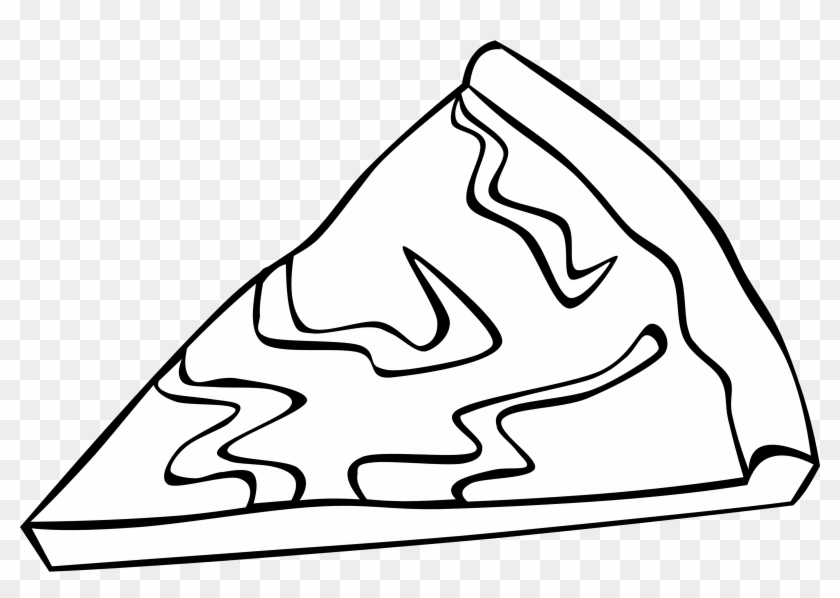 Big Image - Pizza Slice Clip Art Black And White #76527