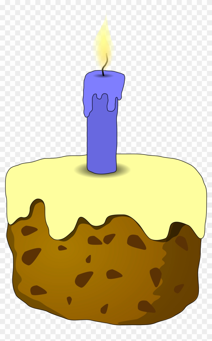 Cake And Candle - Cake With Candle #76591