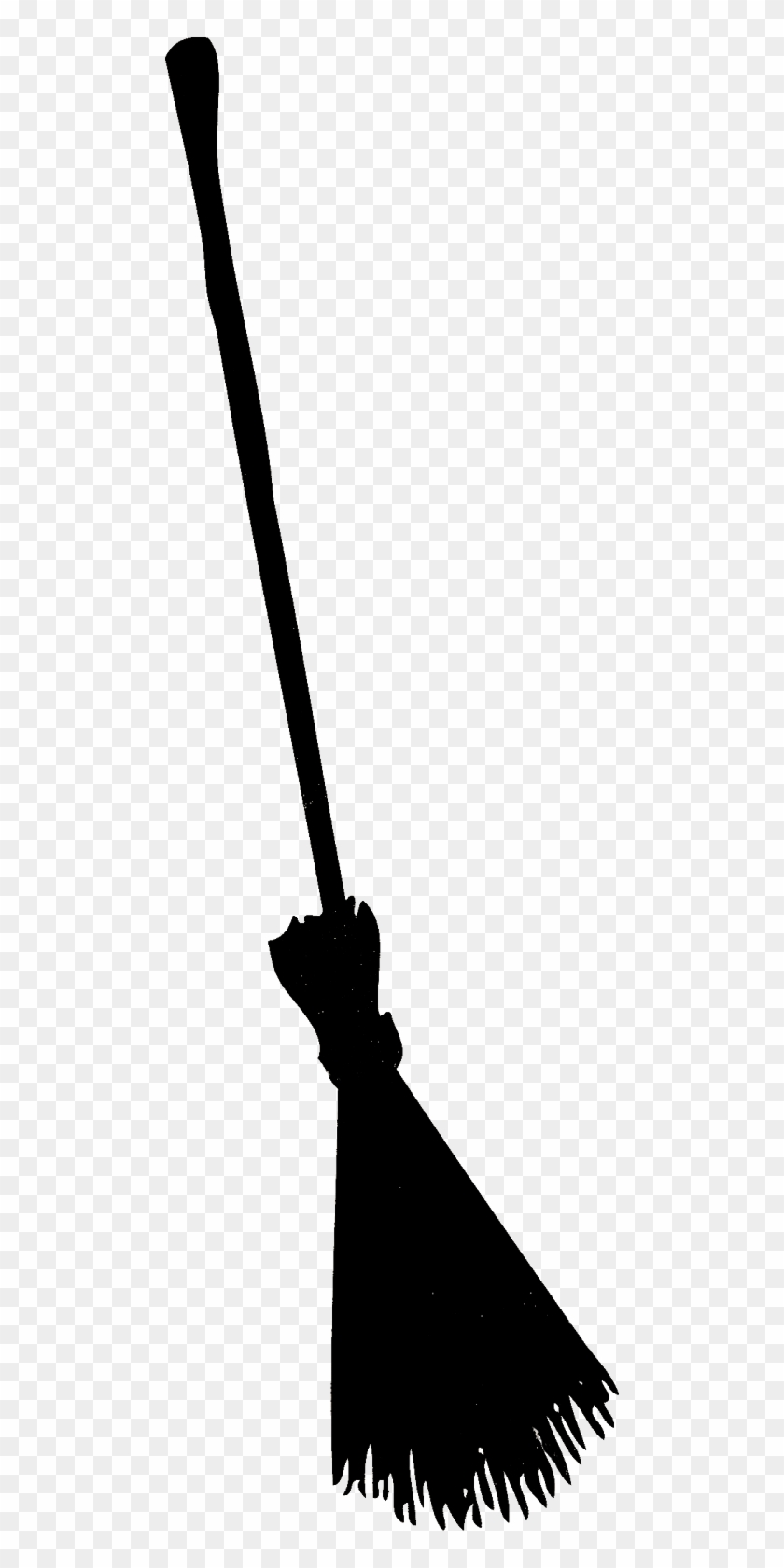 silhouettes per halloween witch broom silhouette free