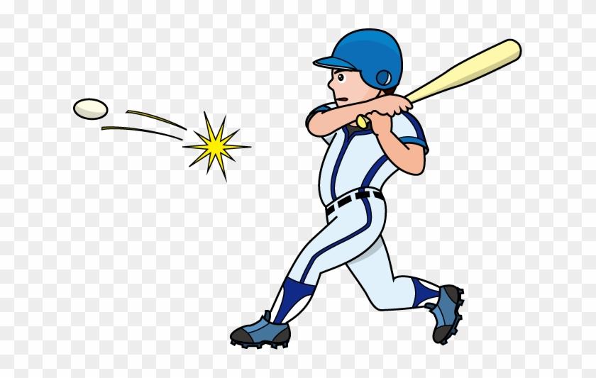 Baseball Hit Clipart - Hitting A Baseball Clipart #76657
