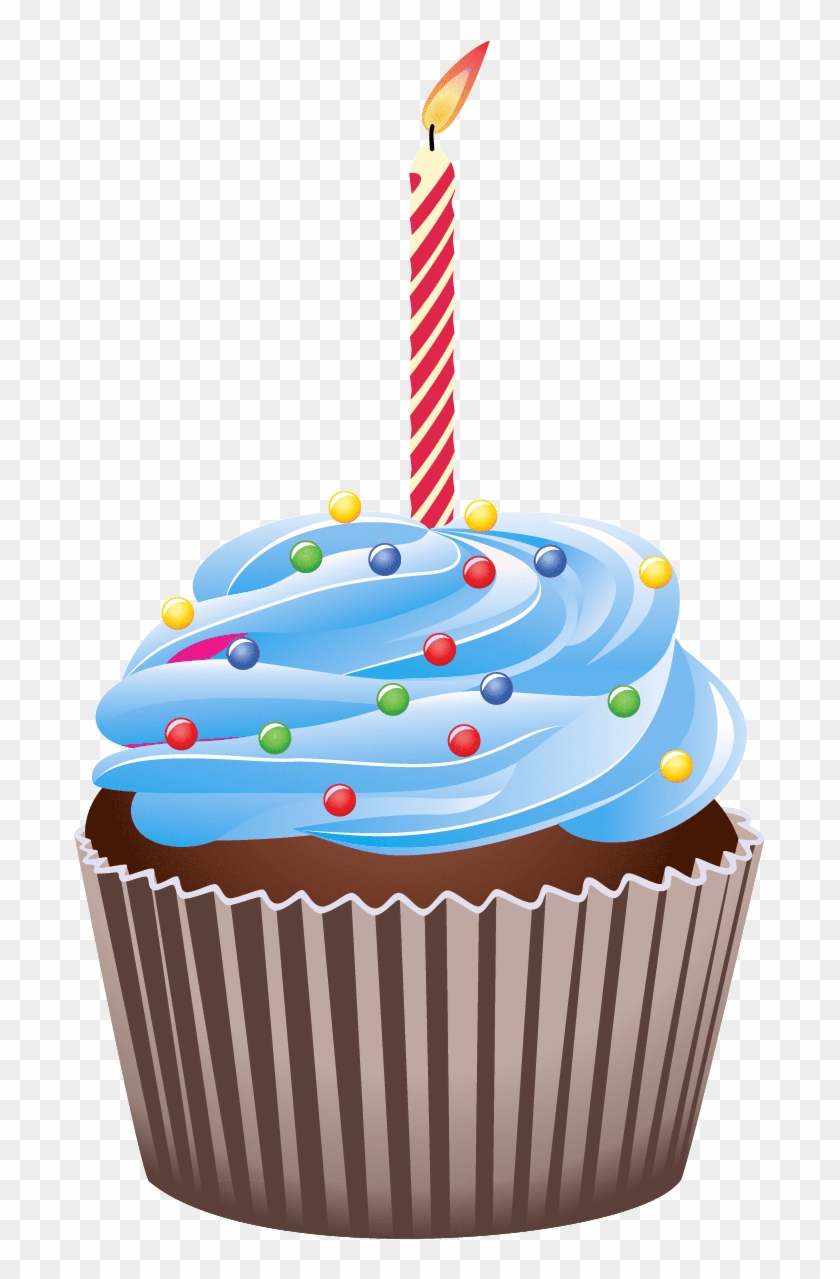 Misc Clipart Cake Candle - Happy Birthday Cupcake Clipart #76746